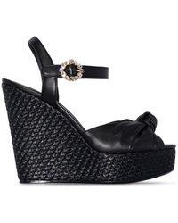 Dolce & Gabbana ウェッジ サンダル - ブラック