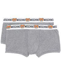 Moschino - Waistband Logo Bear Boxers Bi-pack - Lyst