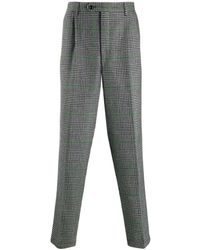 LC23 Tailored Houndstooth Pattern Pants - Gray