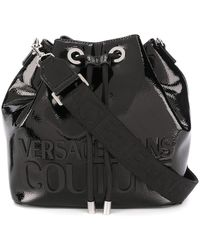 Versace Jeans Couture ロゴ バケットバッグ - ブラック