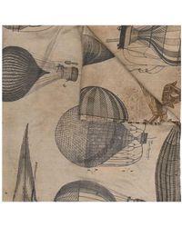 Uma Wang グラフィック シルクスカーフ - マルチカラー