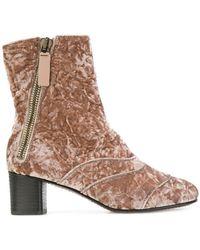Chloé | Lexie Crushed-velvet Ankle Boots | Lyst