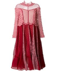 Valentino - Ruffle Detail Dress - Lyst