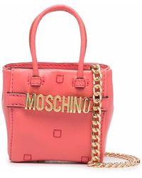 Moschino ロゴ ハンドバッグ - レッド