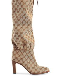 Gucci GG Canvas Mid-heel Boot - Meerkleurig
