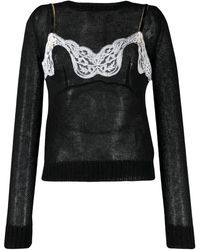 N°21 Lingerie Top Jumper - Black