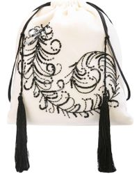 Attico - Peacock Feather Sack Bag - Lyst