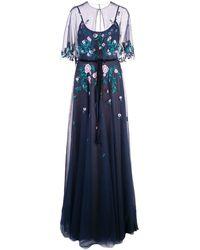 Marchesa notte - チュール イブニングドレス - Lyst