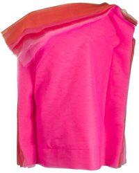 Gianluca Capannolo オーバーサイズ ドレス - ピンク