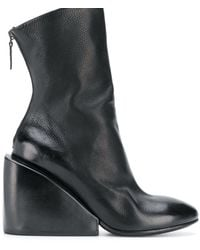 Marsèll Wedge Ankle Boots - Black
