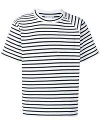 Sacai - Gestreiftes T-Shirt - Lyst
