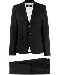 DSquared² Klassische Anzughose - Schwarz