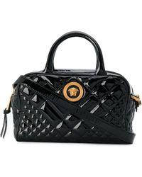 Versace Стеганая Сумка-сэтчел Icon - Черный