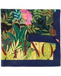 Valentino Monkey Forest Print Scarf - Multicolour