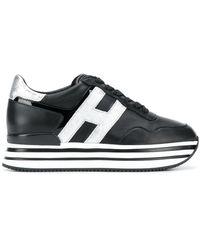 Hogan Кроссовки H483 На Платформе - Черный