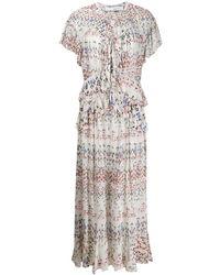 IRO Kleid mit geometrischem Print - Weiß