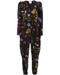 Stella McCartney Combinaison à fleurs - Noir
