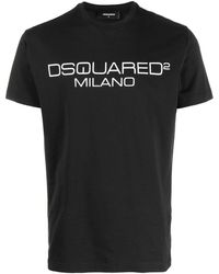 DSquared² Contrasting Logo Stamp T-shirt - Black