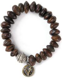 Loree Rodkin - Bead Diamond Charm Bracelet - Lyst