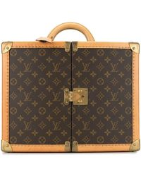 Louis Vuitton Pre-owned Special Order Monogram Amfar Ii Trunk Case - Brown