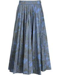 Agnona アブストラクトパターン スカート - ブルー