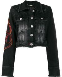 Philipp Plein Джинсовая Куртка Flame - Черный