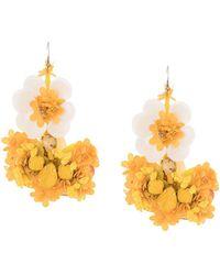 Biyan Pendientes con detalles florales - Amarillo