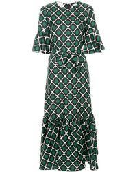 LaDoubleJ Curly Swing patterned dress - Vert