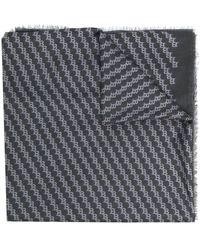 Bally ストライプ スカーフ - グレー
