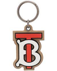 Burberry Tb Monogram Keyring - Brown