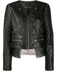 Diesel Black Gold Quilted Sleeves Jacket - Black