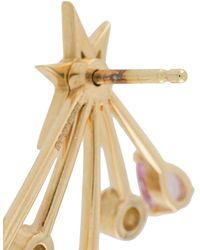 LE STER Puces d'oreilles Rose More Trailblazer en or jaune 18ct orné de diamants - Métallisé