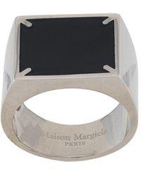 Maison Margiela Signet-style Logo Ring - Black