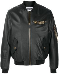 Moschino Бомбер С Логотипом - Черный