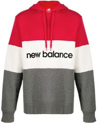 New Balance カラーブロック パーカー - グレー