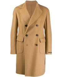 Tagliatore Double-breasted Coat - Brown