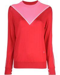Adam Lippes Maglione con design color-block - Rosso