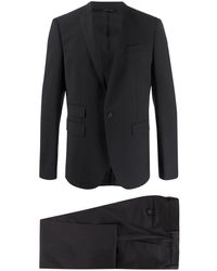 Les Hommes スリムフィット シングルスーツ - ブラック