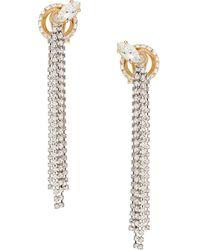Miu Miu Pendientes New Crystal Jewels - Metálico
