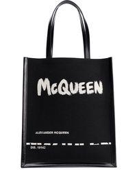 Alexander McQueen ロゴ ハンドバッグ - ブラック