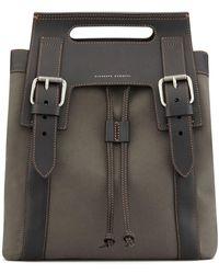 Giuseppe Zanotti Double Buckled Drawstring Backpack - Brown
