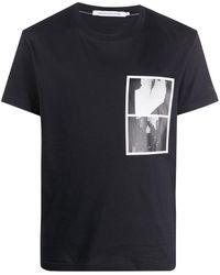 Calvin Klein T-shirt à imprimé photographique - Noir