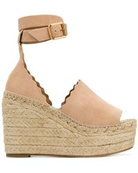 Chloé - Scalloped Trim Wedges - Lyst