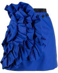 Loulou ラッフル ミニスカート - ブルー