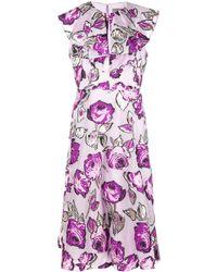 Lela Rose Robe à fleurs - Violet