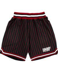 Stadium Goods Chi Logo-print Pinstriped Track Shorts - Black