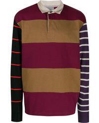 Lanvin Полосатая Рубашка-поло - Коричневый