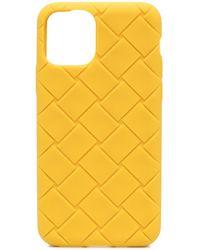 Bottega Veneta Funda Intrecciato para iPhone 11 Pro - Amarillo