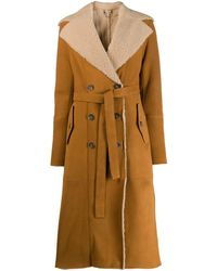DESA NINETEENSEVENTYTWO Shearling Lined Trench Coat - Multicolor