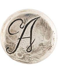 Ann Demeulemeester Blanche Eerste Gegraveerde Pin-badge - Metallic